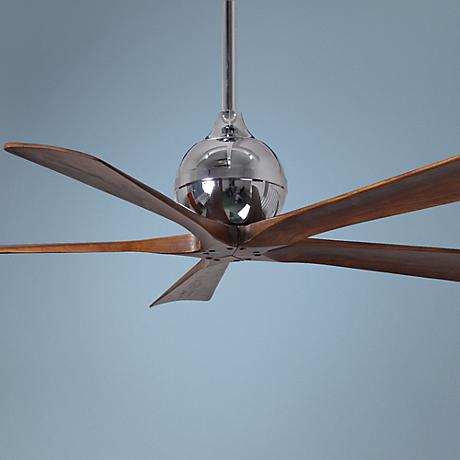 "52"" Matthews Irene 5-Blade Walnut - Chrome Ceiling Fan"