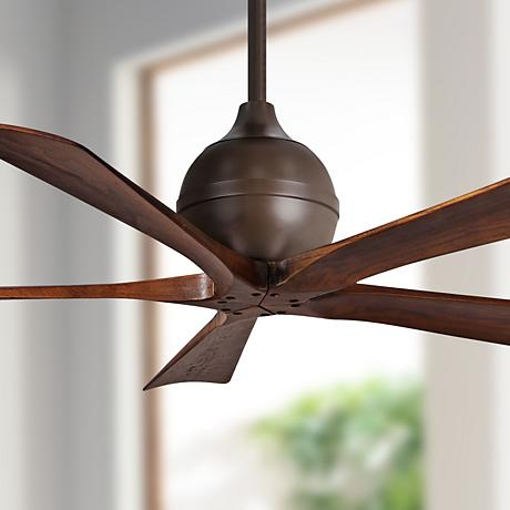 "52"" Matthews Irene 5-Blade Walnut - Bronze Ceiling Fan"