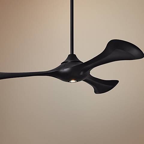 "60"" Matthews Bubble Black Ceiling Fan with LED Light"