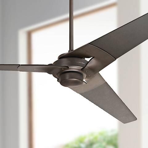 "62"" Modern Fan Torsion Black - Dark Bronze Ceiling Fan"