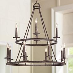 Quoizel Voyager 36 Wide Malaga Chandelier