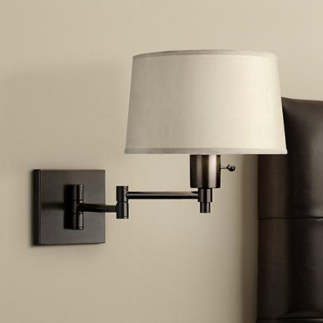 real simple black matte plug in swing arm wall lamp 70032 www. Black Bedroom Furniture Sets. Home Design Ideas