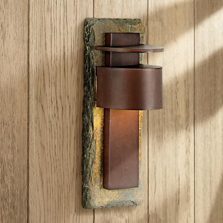 "Kembra Slate Copper 19"" High Outdoor Wall Sconce"