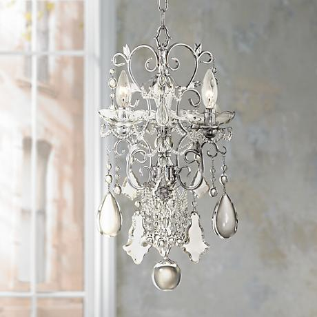 Belle of the Ball Crystal Mini Three Light Chandelier