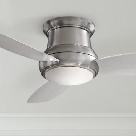 "44"" Minka Concept II Brushed Nickel Hugger Ceiling Fan"