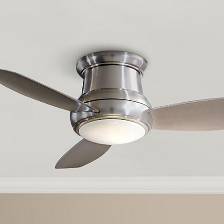 "52"" Minka Aire Concept II Brushed Nickel Hugger Ceiling Fan"