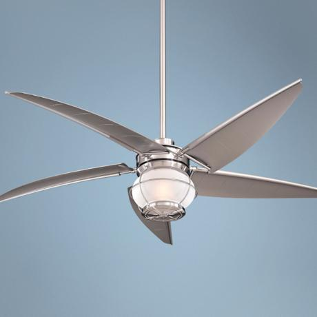 "60"" Minka Magellan Brushed Nickel Wet Location Ceiling Fan"