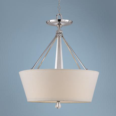Deluxe Collection Polished Chrome Pendant Chandelier