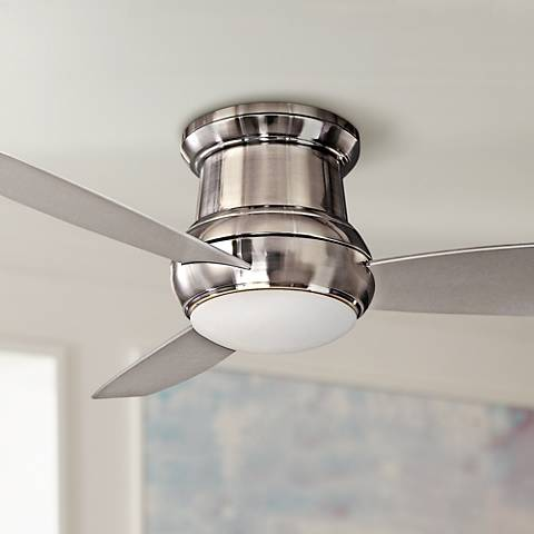 "52"" Minka Concept II Brushed Nickel Outdoor Ceiling Fan"