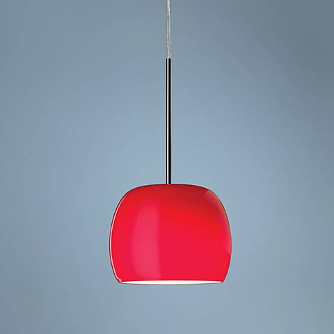 Caps Collection Red Mini Pendant Chandelier
