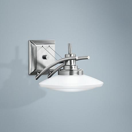 "Structures Nickel 7 1/2"" High Wall Sconce"