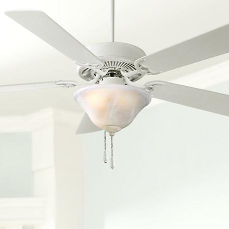 "52"" Minka Contractor Uni-Pack White Ceiling Fan"