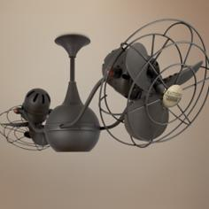 "42"" Matthews Vent Bettina Bronze Metal Ceiling Fan"