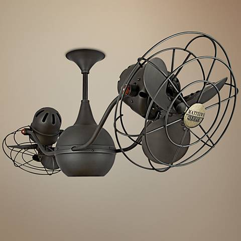 "42"" Matthews Vent Bettina Dual-Head Bronze Ceiling Fan"