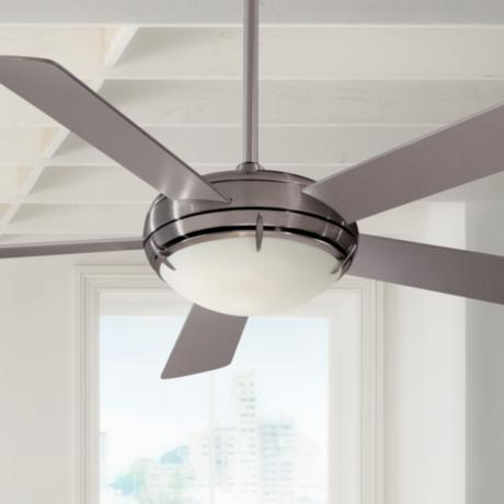 "54"" Minka Aire Brushed Nickel Como™ Ceiling Fan"