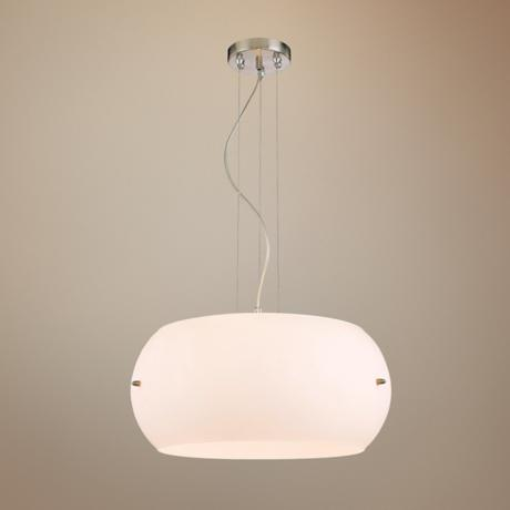 "George Kovacs White Frosted Glass 20 1/2"" Wide Pendant Light"