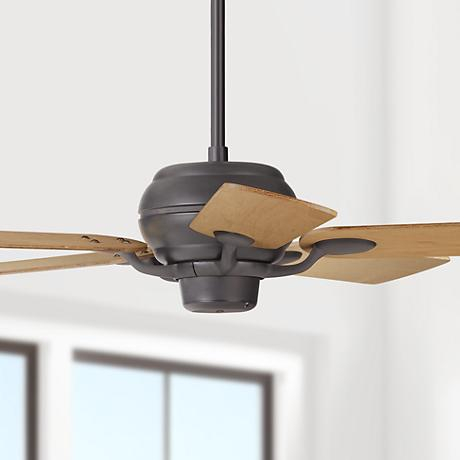 "52"" Casa Optima Matte Black Maple Blades Ceiling Fan"