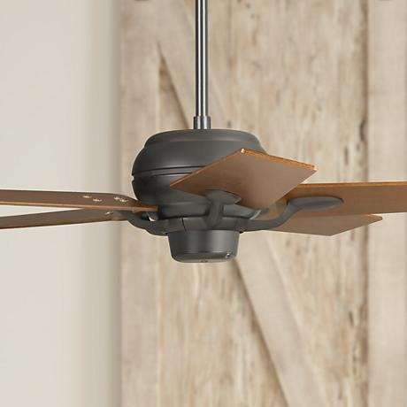 "52"" Casa Optima Matte Black Walnut Blades Ceiling Fan"