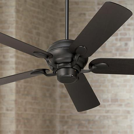 "52"" Casa Optima Black Espresso Curved Tip Blades Ceiling Fan"