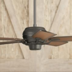 "52"" Casa Optima Black Shaded Cherry Blades Ceiling Fan"