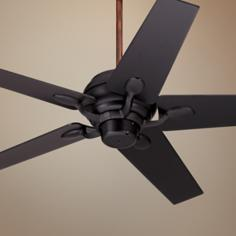 "52"" Casa Optima Matte Black Motor and Blades Ceiling Fan"