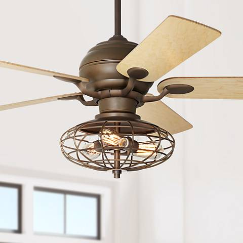 "52"" Casa Optima Oil-Rubbed Bronze Maple Blades Ceiling Fan"