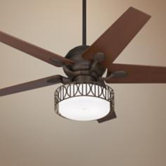 "52"" Casa Optima Oil-Rubbed Bronze Ceiling Fan with Light Kit"