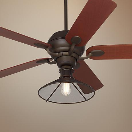 "52"" Casa Optima Mesh Oil-Rubbed Bronze Ceiling Fan"