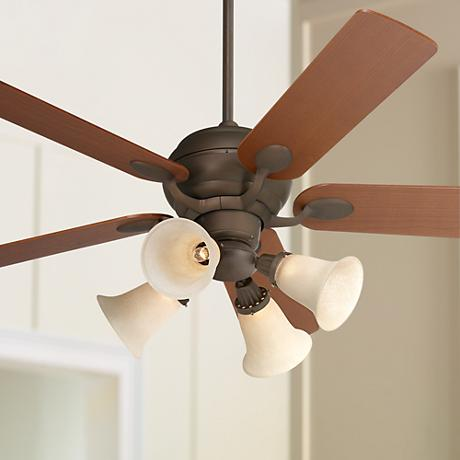 "52"" Casa Optima Bronze Ceiling Fan with Light Kit"
