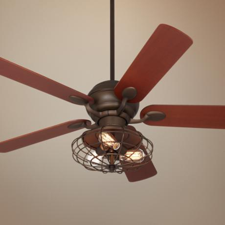 Casa Optima Industrial Oil-Rubbed Bronze Ceiling Fan