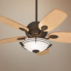 "43"" Casa Optima Maple Blade Ceiling Fan with Light Kit"