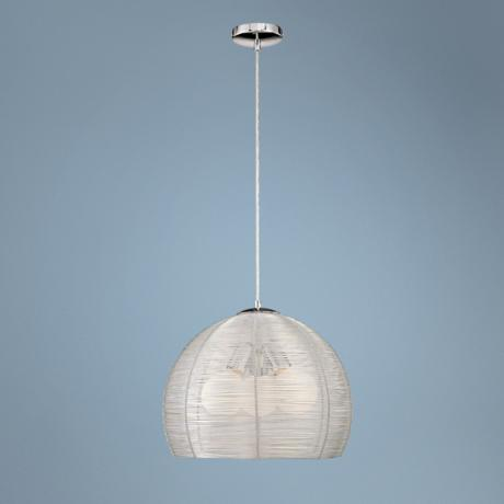 "George Kovacs Aluminum Shade 16"" Wide Pendant Light"