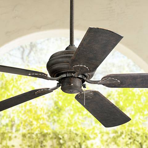 "52"" Casa Vieja Outdoor Tropical Veranda Bronze Ceiling Fan"