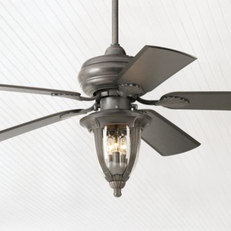 "52""  Casa Vieja Tropical Bronze Light Kit Ceiling Fan"