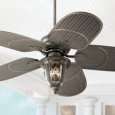 "52"" Casa Vieja Tropical Bronze Indoor/Outdoor Ceiling Fan"