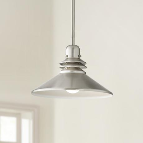 Brushed Nickel  Mini-Pendant Chandelier