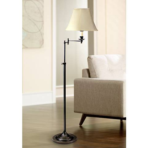 House of Troy Adjustable Swing Arm Bronze Finish Floor Lamp