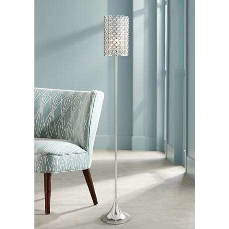 Possini Euro Glitz Crystal And Chrome Floor Lamp 77541