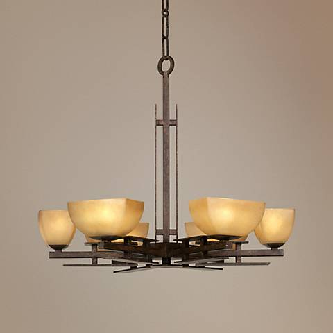 "Lineage Collection 29"" Wide Six Light Chandelier"