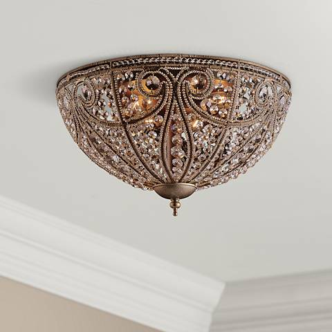 "Elizabethan Collection 17"" Wide Ceiling Light Fixture"