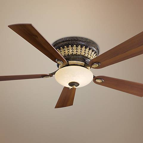 52 Quot Minka Calais Golden Bronze Hugger Ceiling Fan 78423