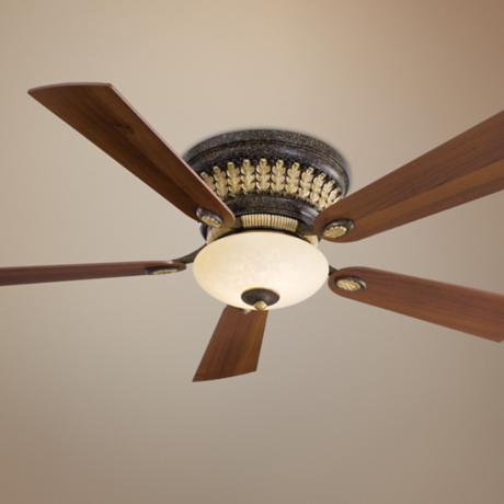 "52"" Minka Calais Golden Bronze Hugger Ceiling Fan"