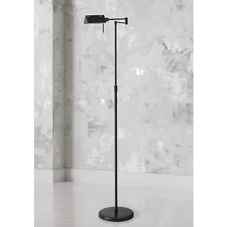 Lite Source Pharma Collection Bronze Adjustable Floor Lamp
