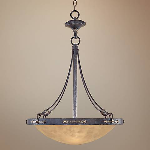"Austin Weathered Saddle 21 1/4"" Wide Chandelier"