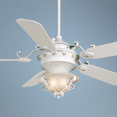 "56"" Casablanca La Fleur Ceiling Fan with Frosted Light Kit"