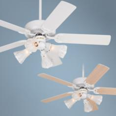 "52"" Casablanca Legacy White Ceiling Fan with Light Kit"