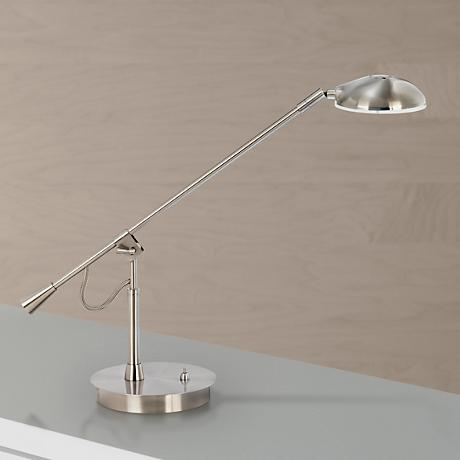Balance Arm Brushed Nickel LED Desk Lamp