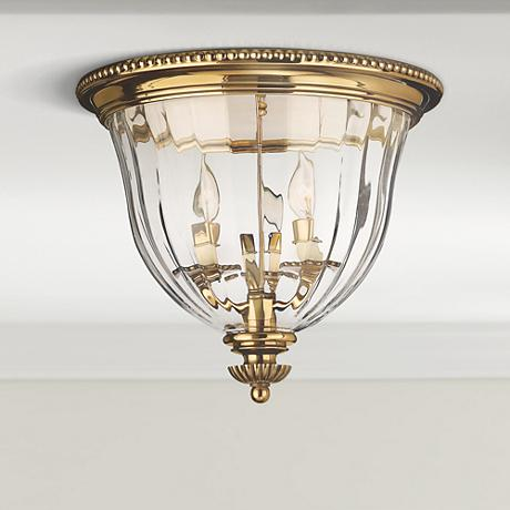 "Hinkley Cambridge Brass 14 1/2"" Wide Ceiling Light"