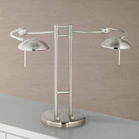 Halogen Double Swing Arm  Desk Lamp
