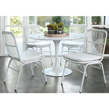 Set of 2 Ambria White Dining Chairs